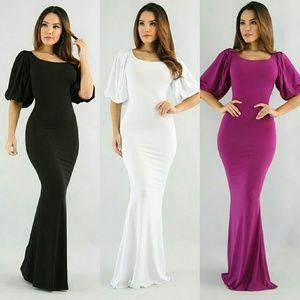 Dresses & Skirts - Solid print maxi dress