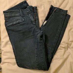 R 13 Denim - R13 Moto skinny ankle jeans dark grey 26