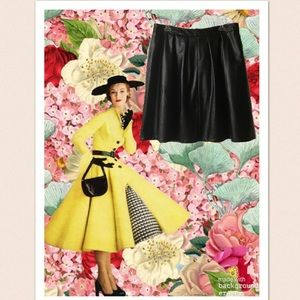 Worthington Black Perforated Faux Leather Skirt