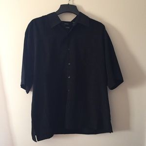 George Other - George sueded checkered black short shirt Size XL