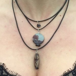 Picture Jasper layered Boho necklace.