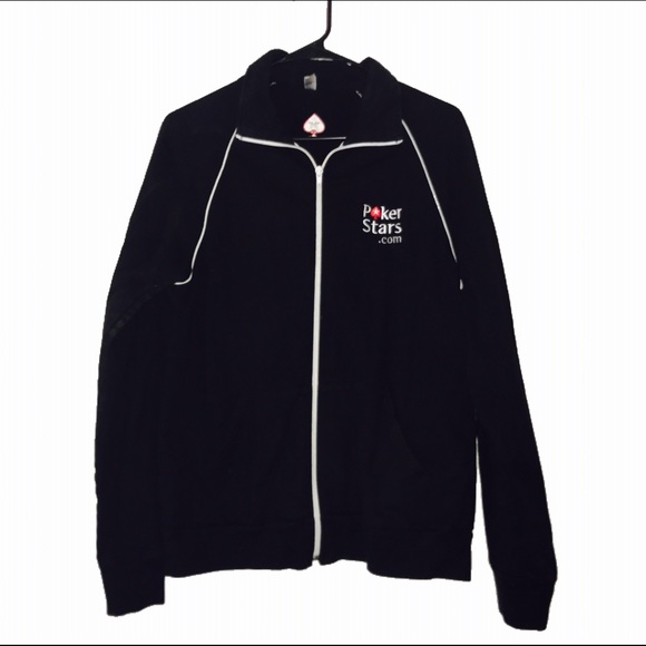 0ee64cefc American Apparel Jackets & Coats   Poker Stars Zip Up Unisex   Poshmark