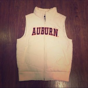Colosseum Jackets & Blazers - Auburn University White Vest