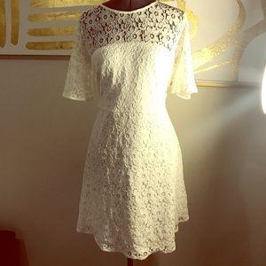 Lulus Ivory Lace Dress Size Large