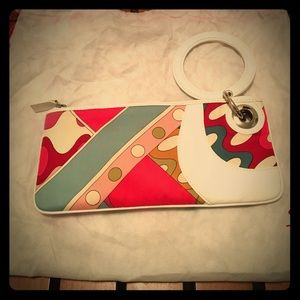 Isabella Fiore Handbags - Isabella Fiore mod canvas and leather clutch