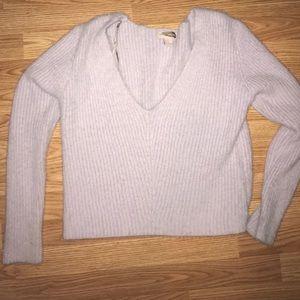 Purple fuzzy sweater