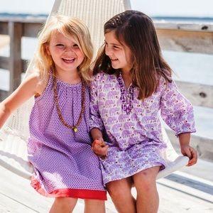 Pink Chicken Other - NWT Pink Chicken Kids Holiday Dress in Blue