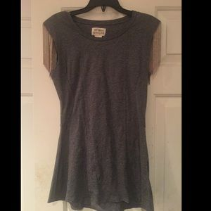 TORN BY RONNY KOBO TOP WITH METAL DETAIL