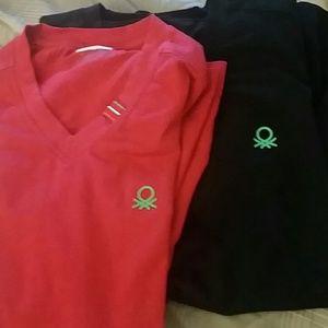 Benetton  Tops - 2 for 10 dollars BENETTON UNDERCOLORS  t shirt