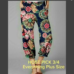 firmiana Pants - SPRING SALE🌱 PLUS (2X,3X) Floral Loose Fit Capris
