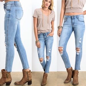 The Katy Distressed Skinny Jean