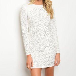 Dresses & Skirts - New M white studded dress