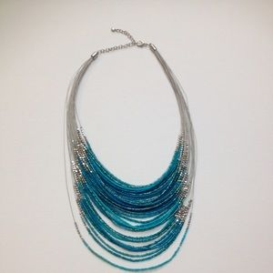 Jewelry - Multi strand turquoise colored bead necklace