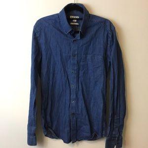 Reiss Tops - REISS Blue Denim Button Down Shirt
