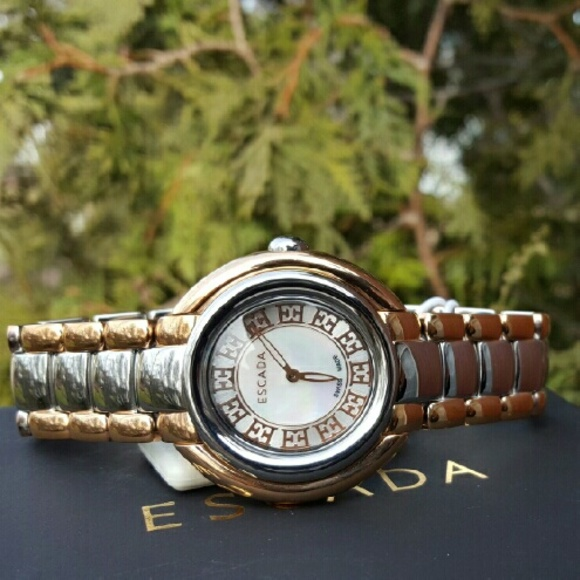 69348a7eec8c Escada Accessories | New Ivory Luxury Bracelet Watch E2435045 | Poshmark