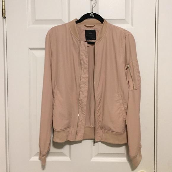 ff77930c2ab Zara light pink bomber jacket