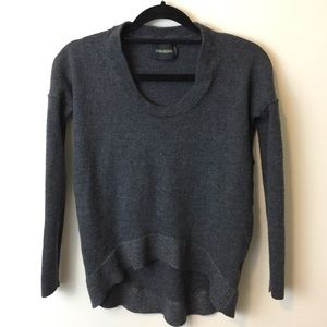 Zadig & Voltaire Sweaters - Zadig & Voltaire Grey Wool Knit High Lo Sweater