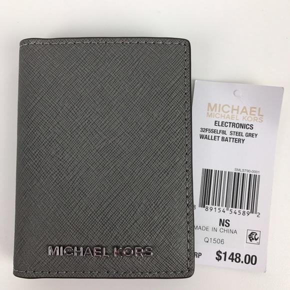 8e4959f34f6a3c Michael Kors Bags   Electronics Wallet Battery Steel Grey   Poshmark