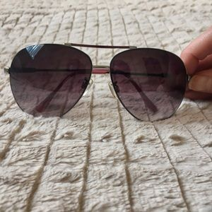 Steve Madden silver and pink aviator sunglasses