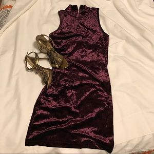 Forever 21 Dresses & Skirts - Forever 21 plum colored velveteen dress
