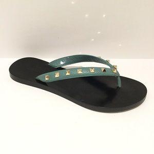 Valentino Shoes - VALENTINO ROCKSTUD FLIP FLOP SANDALS.