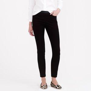 J Crew Dannie leather-trim pants