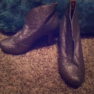 Madden Girl Sparkly Ankle Boots