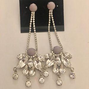 Noir jewelry crystal drop chandelier earrings