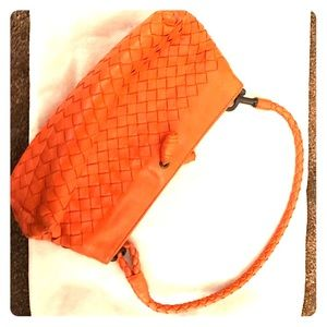 Bottega Veneta Handbags - Bottega Veneta orange woven hand bag