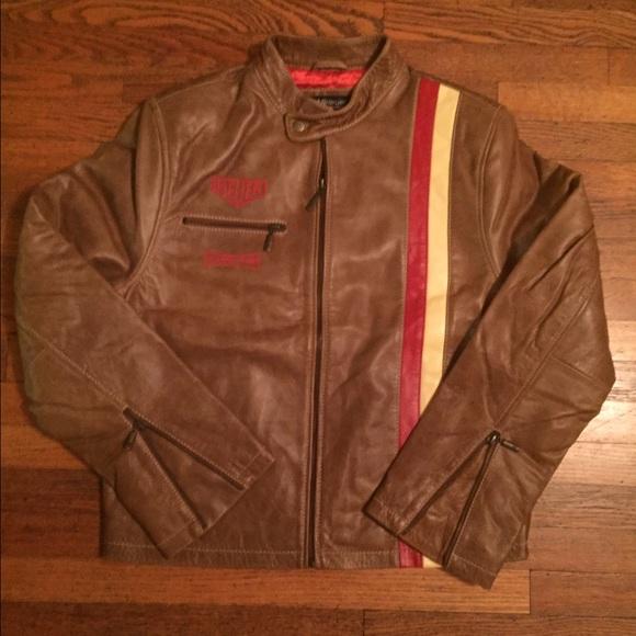 24c58f62fa4 Tag Heuer Rare Vintage Grand Pix Leather Jacket