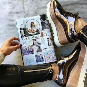 Stella mccartney  Shoes - 6, 8, 9, 10!! METALLIC ROSE GOLD  OXNARD PLATFORM