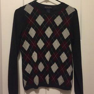 Brooks Brothers Cashmere Argyle Sweater
