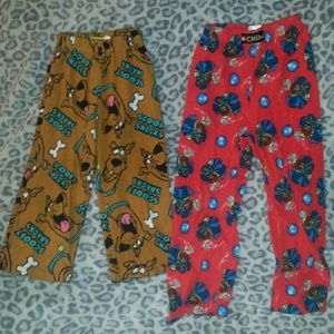 Lego Other - 2 pairs of fleece PJ pants, Scooby Doo Sz 4/5, Leg