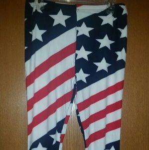 Leggings plus size American Flag