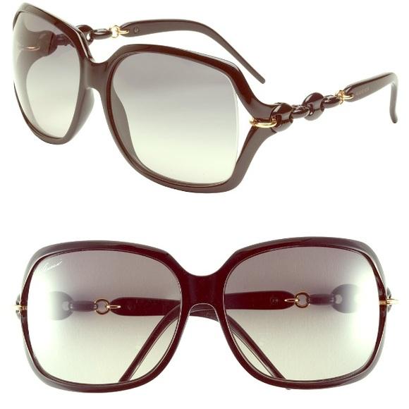 fcedf48f06b Gucci chain link black oversized sunglasses w case