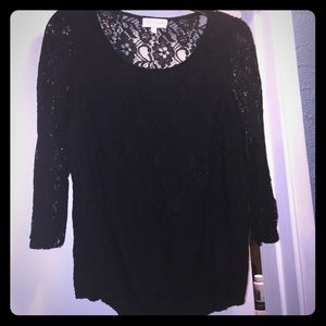 My Michelle Tops - Black Lace top