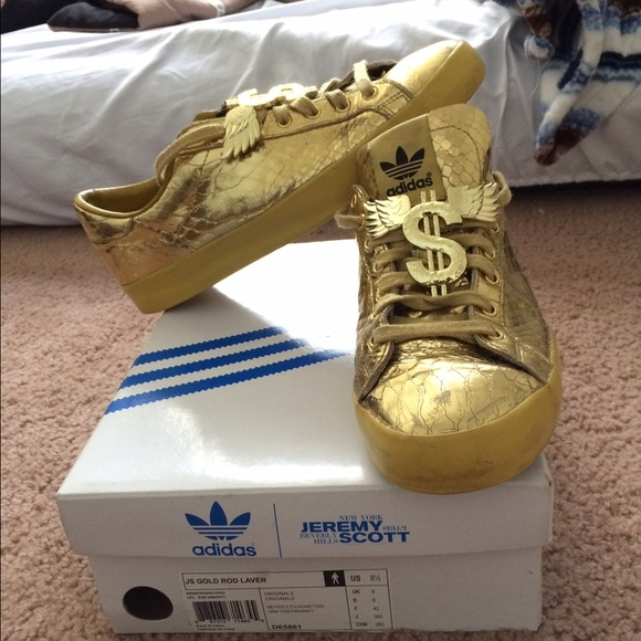 8bb422313a34 Adidas Other - Adidas Jeremy Scott gold rod laver size 8.5
