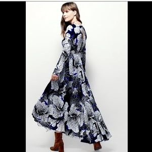Free People Bold Floral Printed Maxi Swing Dress