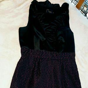 Like New Just Taylor Ruffled Purple & Black Dress