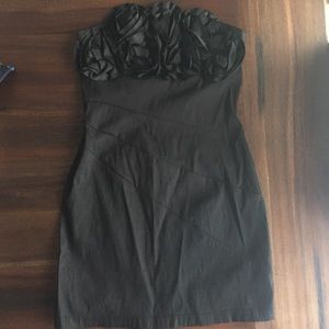 Black strapless dress LBD