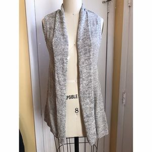 Kim Rogers Jackets & Blazers - Gray Knit Layering Vest - Grey Sweater Vest