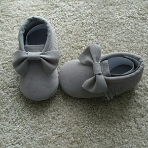 Other - Brand new gray baby moccasins