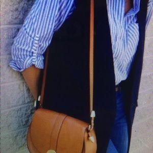 Zara tan messenger bag