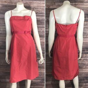 J. Crew Dresses & Skirts - J Crew Emma Womens Dress Size 8 Coral Pink Silk