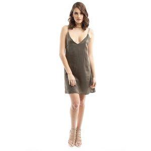 Style Link Miami Dresses & Skirts - OLIVE SATIN SLIP DRESS