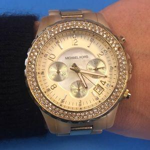 Michael Kors Accessories - Michael Kors Watch MK5417 Gold & Horn Chronograph