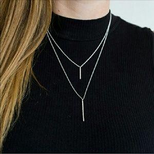 Gorjana Jewelry - Gorjana Silver Kieran Double Pendant Necklace