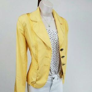 Katherine Barclay Jackets & Blazers - Katherine Barclay yellow jacket