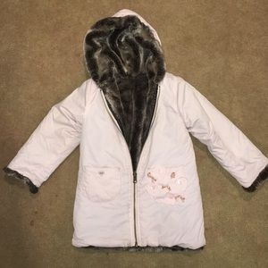 Lili Gaufrette Other - Little girls reversible shearling jacket
