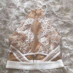 Tops - Laced mesh detail top size small